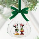 Disney Store Yearly Glass Sketchbook Mickey Minnie Mouse Ornament 2016