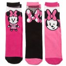 Disney Store Minnie Mouse MXYZ Socks for Women - 3-Pack Fits Shoe Sizes 5-10 New