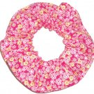 Pink Tiny Floral Roses Fabric Hair Scrunchie Scrunchies by Sherry