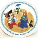 Disney Pinocchio 100th Birthday Collector Plate Schmid LE 7,500 1980