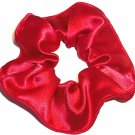 Red Satin Fabric Hair Scrunchie Scrunchies by Sherry