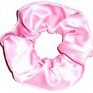 Pink Satin Fabric Hair Scrunchie Scrunchies by Sherry