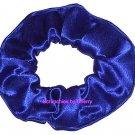Royal Blue Satin Fabric Hair Scrunchie Scrunchies by Sherry