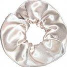 Champane Satin Fabric Hair Scrunchie Scrunchies by Sherry