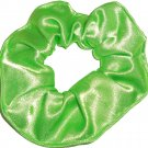 Lime Green Satin Fabric Hair Scrunchie Scrunchies by Sherry