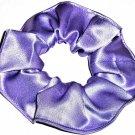 Lavendar Satin Fabric Hair Scrunchie Scrunchies by Sherry