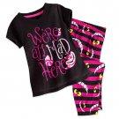 Disney Store Cheshire Cat Sleep Set for Girls Pajamas Size 5/6