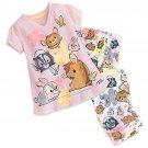 Disney Store Bambi and Friends Sleep Set for Tweens Girls PJ Pajamas 2017 Size 7/8
