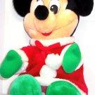 "Disney Minnie Mouse Christmas Plush Toy 16"" Seated Disneyland Theme Parks"
