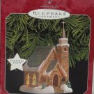 Hallmark Ornament The Stone Church Candlelight Services Magic Lights Holiday