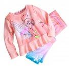 Disney Store 2 Piece Pajamas Sleep Set Tinker Bell Size 5/6