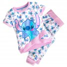 Disney Store 2 Piece Pajamas Sleep Set Stitch Size 7/8