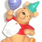 Disney Winnie Pooh Figurine Birthday It's a hip Poohray Day Hat Balloon