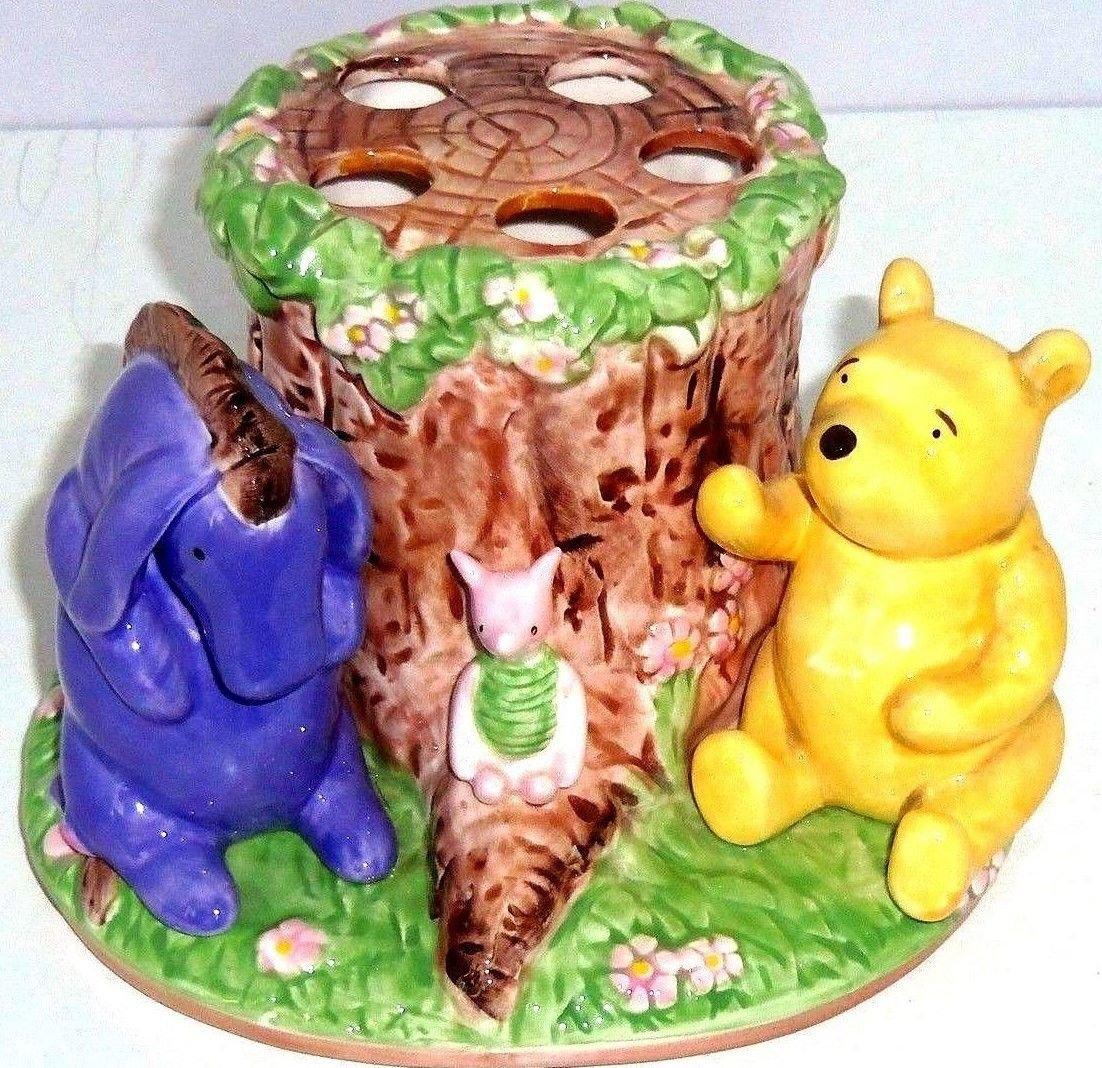 Disney Winnie Pooh Eeyore Piglet Toothbrush Holder Hand Painted Kids Bathroom