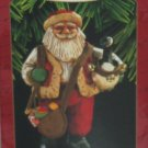 Hallmark Ornament Christmas Santa's Merry Path Folk Art Americana 1997 New