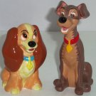 Disney Lady Tramp Figurines Ceramic Vintage Dog Dogs Puppies