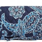 Vera Bradley Blue Bandana All Wrapped Up Jewelry Roll Travel Case
