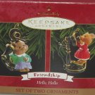 Hallmark Ornament Christmas Friendship Hello Hello 1999 Holiday Set of 2