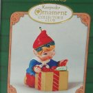 Hallmark Ornament Ready for Delivery Holiday 2001 Elf Present