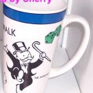 Mr Monopoly Coffee Mug Boardwalk Collector Tall Coffee Cup Game 1999 Vintage