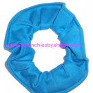 Turquoise Knit Fabric Hair Scrunchies Ties