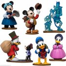 Disney Store Mickey's Christmas Carol Play Set Figure Cake Toppers New 2015