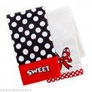 Disney Kitchen Towel Set 2 Pack Minnie Mouse Theme Parks
