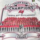 Tampa Bay Buccaneers Shirt Super Bowl 2002 Team Roster NFL John Gruden Size L