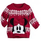 Disney Store Minnie Mouse Christmas Sweater for Baby 2016 0-3 Months