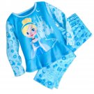 Disney Store Cinderella PJ Pals Pajamas Princess Blue New 2017 Size 7/8
