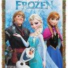 Disney Frozen Elsa Anna Tapestry Throw Blanket Olaf Kristoff New