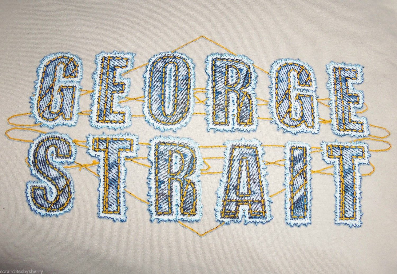 George Strait Concert T-Shirt Men Ladies Gray Country Singer Shirt Size Med