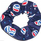 Pepsi Cola Navy Blue Fabric Hair Scrunchie Scrunchies by Sherry