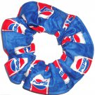Pepsi Cola Blue Fabric Hair Scrunchie Scrunchies by Sherry