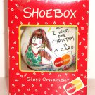 Hallmark Shoebox Ornament All I Want for Christmas is a Card MasterCard 1992