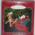 Hallmark Ornament Christmas Sleigh Ride Santa Reindeer 1998 Holiday