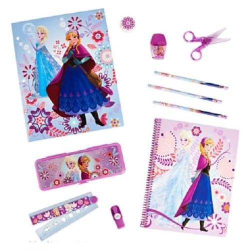Disney Store Frozen Elsa Anna Olaf School Supplies Pencils Markers Kit