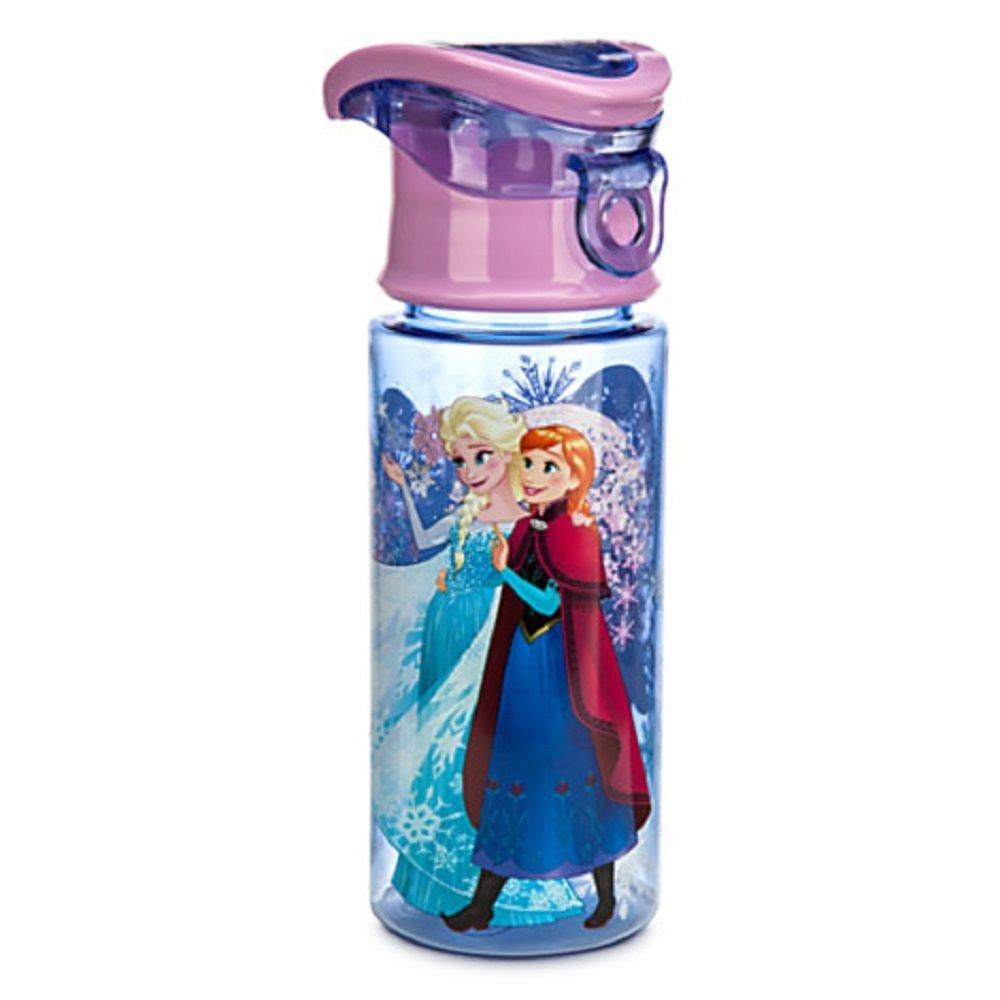 Disney Store Frozen Anna Elsa Plastic Water Bottle 2015