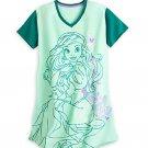 Disney Store Ariel Ladies Nightshirt Nightgown Mermaid Green Size M/L
