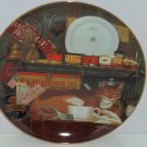 Purr-fect Places Casey the Conductor Cat Kitty Kitten Collector Plate Bradford Exchange