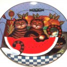 Purr-fect Places  Kitty's Treats Cat Kitty Kitten Collector Plate Bradford Exchange