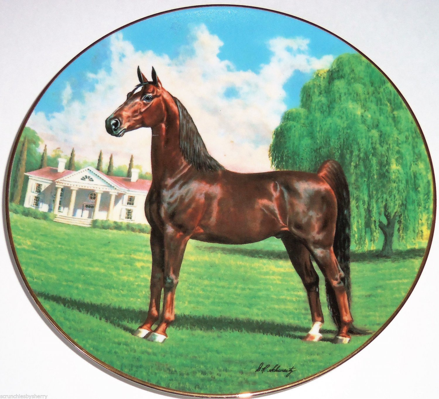 Purebred Horses of America Collector Plate The Saddlebred WS George Donald Schwartz