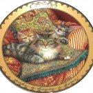 Sitting Pretty Collector Plate Cats Make a House a Home Karen Murray Bradford