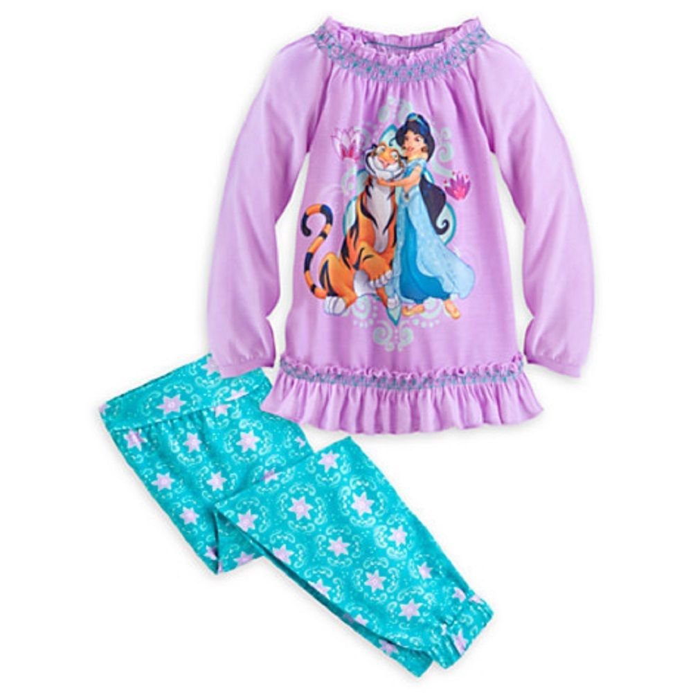 Disney Store Princess Jasmine PJ's 2 Piece Pajamas Size 5/6 New