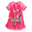 Disney Store Minnie Mouse Nightshirt Nightgown Girls Pink Coral 2017 Size 5/6