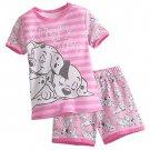 Disney Store Short Sleep Set for Girls Sleepwear 101 Dalmatians Pink 2017 Size 5