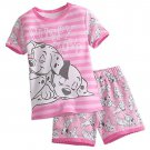Disney Store Short Sleep Set for Girls Sleepwear 101 Dalmatians Pink 2017 Size 6