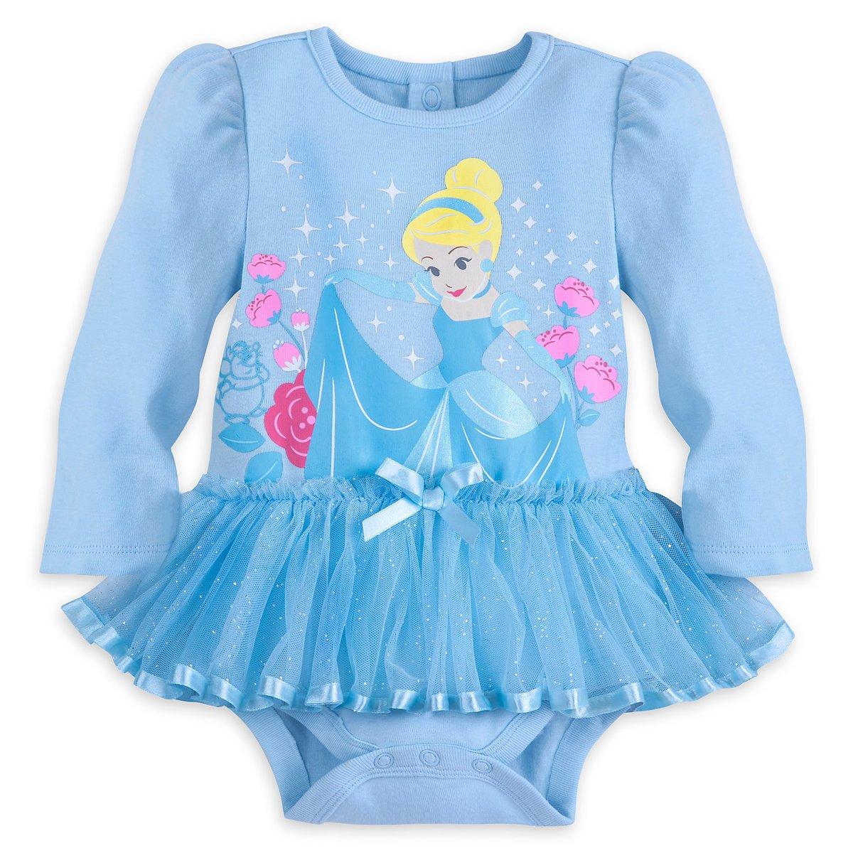 Disney Store Cinderella Blue Baby Bodysuit 0-3 Months