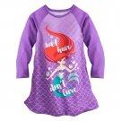 Disney Store Ariel Nightshirt Nightgown Princess The Little Mermaid Long Sleeve Size 7-8