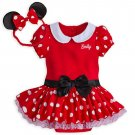 Disney Store Minnie Mouse  Baby Bodysuit Costume Dress 0-3 Months